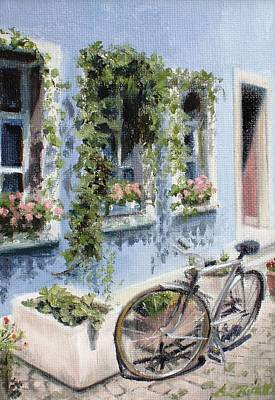 Painting - Bicycle In Zurich by Erin Rickelton