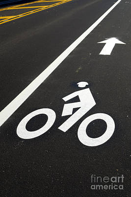 Bike Photograph - Bicycle Lane by Olivier Le Queinec