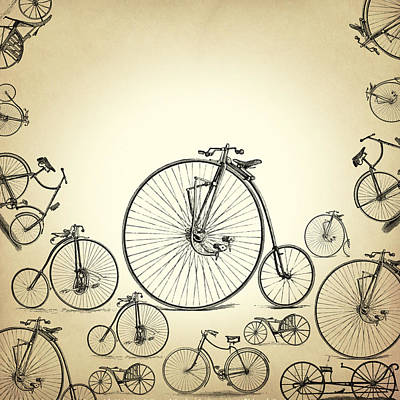 Old Digital Art - Bicycle by Mark Ashkenazi