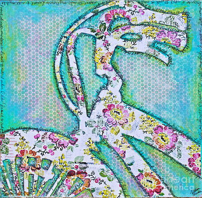 Mixed Media - Bicycle by Melissa Sherbon