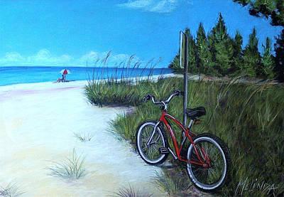 Sanibel Island Painting - Bicycle On Sanibel Beach by Melinda Saminski