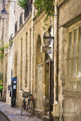 Impressionism Photos - Bicycle on Paris street by Sheila Smart Fine Art Photography