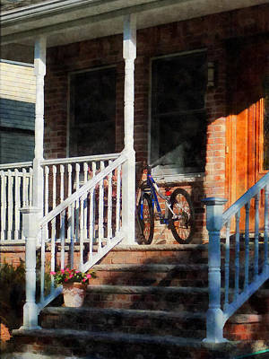Step Photograph - Bicycle On Porch by Susan Savad