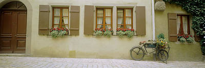 Rothenburg Photograph - Bicycle Outside A House, Rothenburg Ob by Panoramic Images