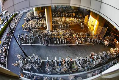 Bicycle Parking Art Print by Rscpics