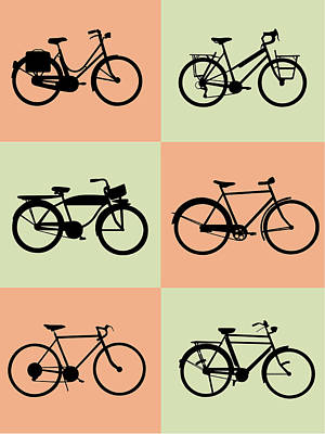 Amusing Digital Art - Bicycle Poster by Naxart Studio