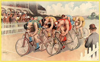 Rectangles Digital Art - Bicycle Race Poster by Gary Grayson