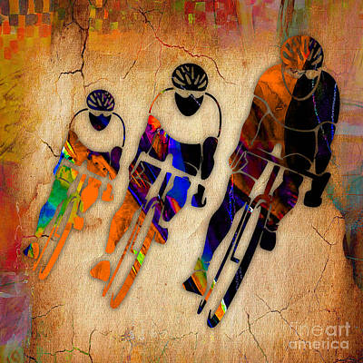 Mixed Media - Bicycle Racing by Marvin Blaine