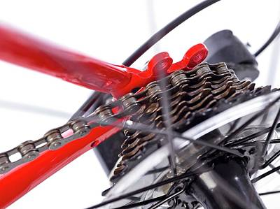 Component Photograph - Bicycle Rear Gears by Science Photo Library