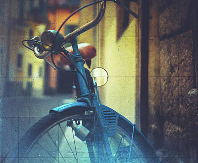 Bicycle Seen Through A Vintage Camera Art Print by Moreiso