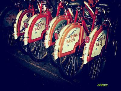 Bicycle Digital Art - Bicycle Shop by KJ DePace