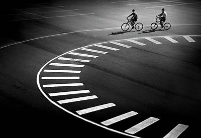 Bikes Photograph - Bicycle Track by Marc Apers