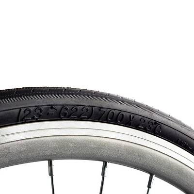 Bicycle Tyre Art Print by Science Photo Library