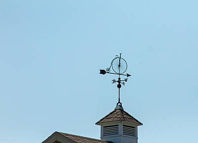 Bicycle Weathervane Art Print