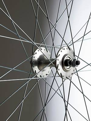 Bicycle Wheel Hub Print by Science Photo Library