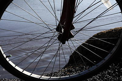 Photograph - Bicycle Wheel  by Aidan Moran