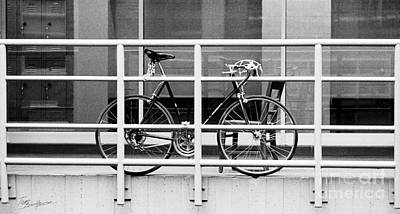 Photograph - Bicycle With Chair And Railing by Tom Brickhouse