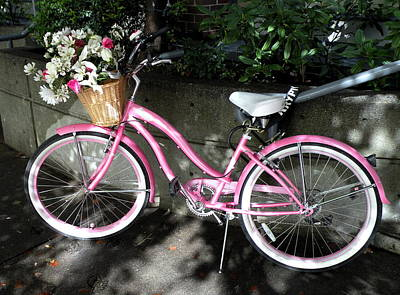 Photograph - Bicycle With Flowers by Brian Chase