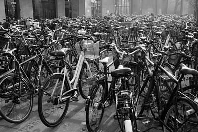 Photograph - Bicycles Bicycles And More Bicycles by Inge Riis McDonald