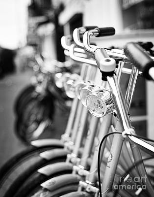For Rent Photograph - Bicycles For Rent by Ivy Ho