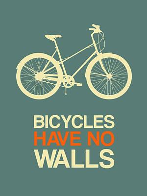 Bicycling Digital Art - Bicycles Have No Walls Poster 3 by Naxart Studio