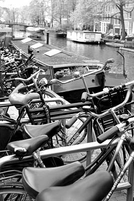 Photograph - Bicycles In Amsterdam by Jenny Hudson
