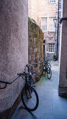 Photograph - Bicycles In Edinburgh by Eliza Donovan