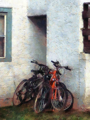 Photograph - Bicycles In Yard by Susan Savad