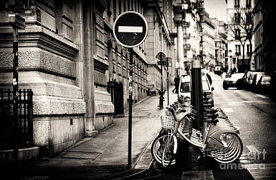 Photograph - Bicyclettes by John Rizzuto