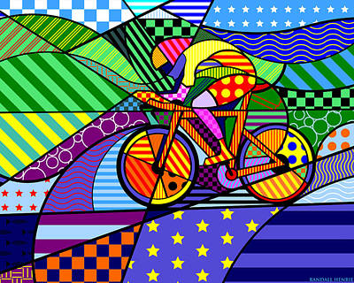 Digital Art - Bicycling by Randall Henrie