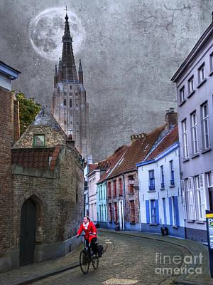 Photograph - Bicycling Through Bruges by Juli Scalzi