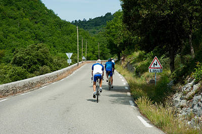 Handlebar Photograph - Bicyclists On The Road, Bonnieux by Panoramic Images
