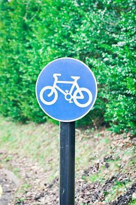 Bicyle Route Art Print by Tom Gowanlock