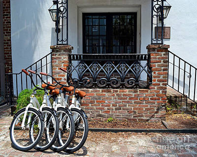 Charleston Photograph - Bicycles In Charleston by Amy Lucid