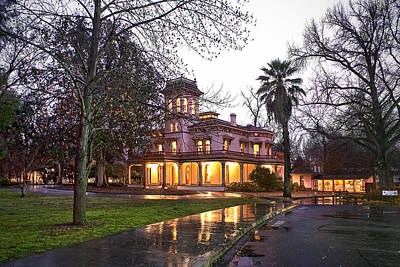 Photograph - Bidwell Mansion In The Rain  by Abram House