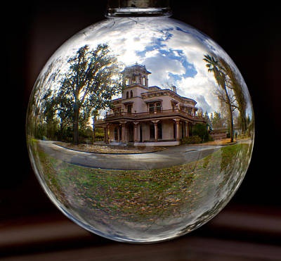 Photograph - Bidwell Mansion Through A Glass Eye by Robert Woodward