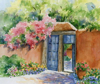 Southwest Gate Painting - Bien Venidos by Ann Peck