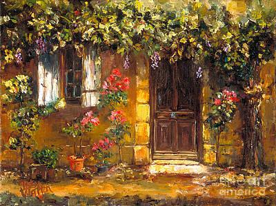 Bienvenue A' Provence Print by Patsy Walton