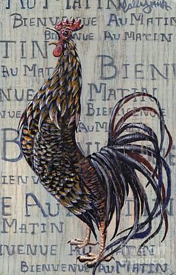 Bienvenue Au Matin Plaque Print by Callie Smith
