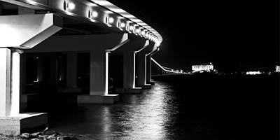 Bienville Blvd. Bridge Night Print by Marcus Mapp Sr
