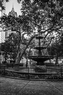 Digital Art - Bienville Fountain And Rsa by Michael Thomas
