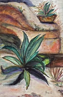 Painting - Big Aloe Maguey by Anais DelaVega