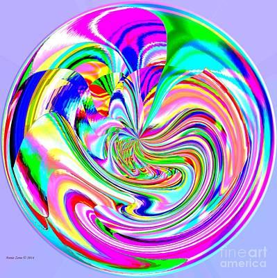 Digital Art - Big And Colorful Lollipop by Annie Zeno