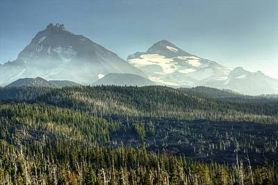 Mckenzie Pass Photograph - Big And Middle Sisters by Chris Anderson