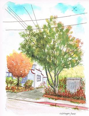 Big And Small Trees In West Hollywood - California Art Print