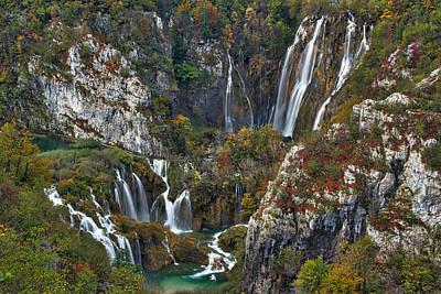 Photograph - Big And Small Waterfalls - Croatia by Stuart Litoff