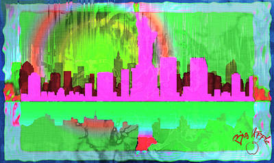 Digital Art - Big Apple 1 by Paulette B Wright