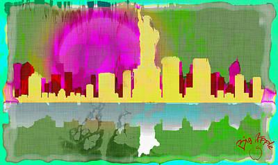 Digital Art - Big Apple 2 by Paulette B Wright