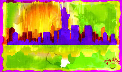 Digital Art - Big Apple 3 by Paulette B Wright