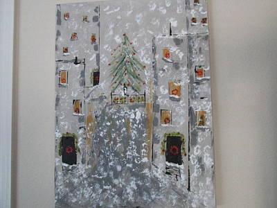 Big Apple Christmas Art Print